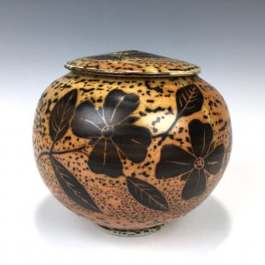 dogwood lidded bowl by Terry Plasket