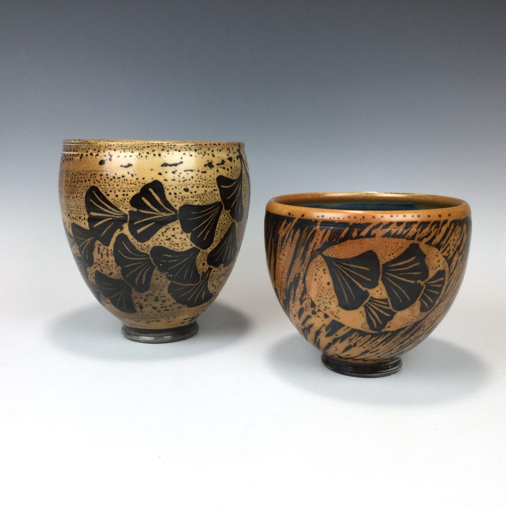 Stoneware bowls by Terry Plasket