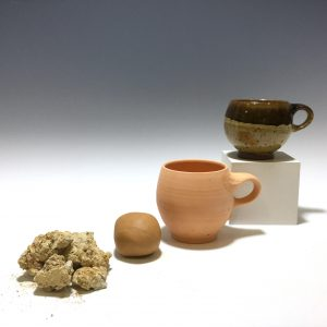 Ruga clay stages of the process to a mug