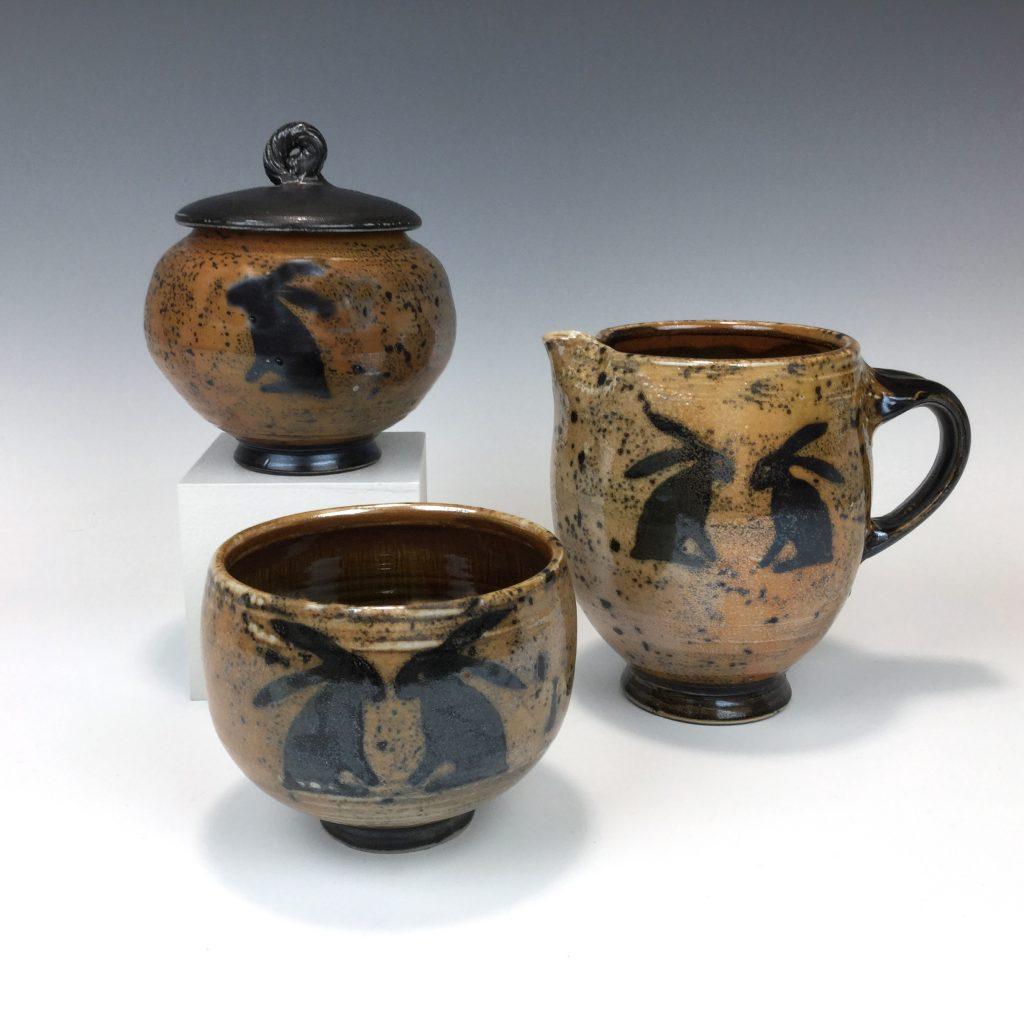 Rabbit series vessels by Terry Plasket